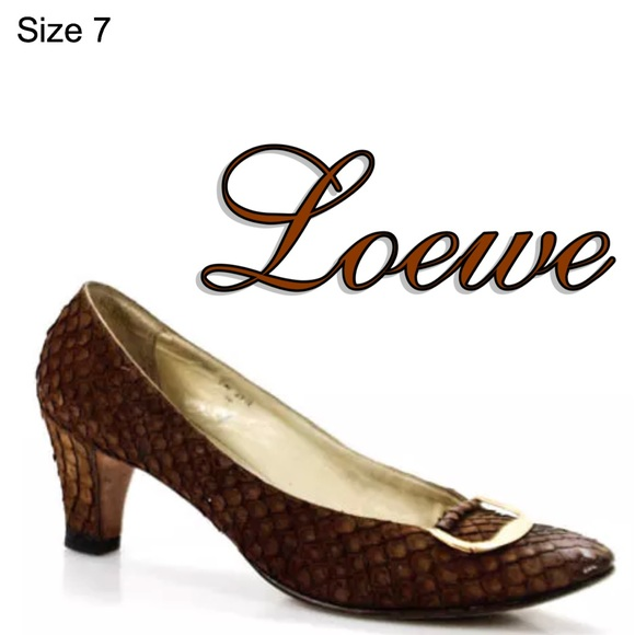 5a9ad99b1ad0f AUTHINTIC LOEWE VINTAGE LEATHER PUMPS SIZE 7